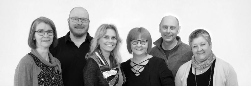 Gunnel Tjäder, Anders Skoglind, Ann-Louice Abrahamsson, Eva Björnström, Göran Söderström och Lena Gustavsson