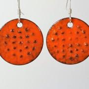Prickigt Orange Örhängen