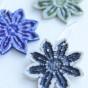 Blomma örhängen - Örhängen blå