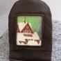 Kiruna kyrka nyckelfodral - Kiruna kyrka nyckelfodral mörkbrunt renskinn