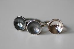 Oxiderad ring i 925silver med skål - 650 kr