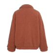 FURRY TEDDY COAT - ONE SIZE - RED FOX