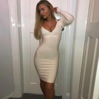 CREAM WHITE DRESS