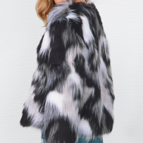 SAMANTHA FAUX FUR JACKET GREY/BLACK