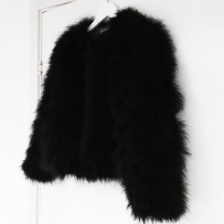 DREAM JACKET FAUX FUR BLACK