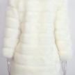 ROBYN FAUX FUR JACKET WHITE - LONG