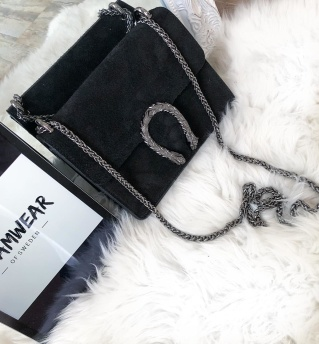 SUEDE SNAKE BAG SMALL