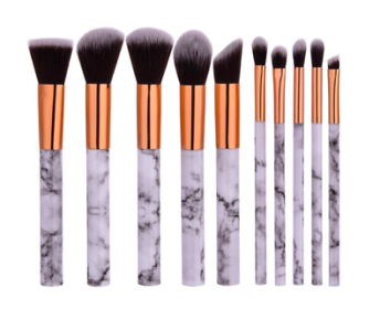 MAKEUP BRUSHES SET MARBLE