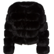 ROBYN FAUX FUR JACKET BLACK