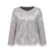SALLY FAUX FUR JACKET GREY