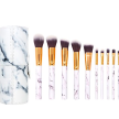 MAKEUP BRUSHES SET MARBLE WITH CASE