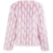 SAMANTHA FAUX FUR JACKET PINK/WHITE