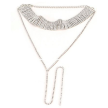Diamond choker necklace - SILVER