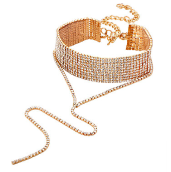 Diamond choker necklace - GOLD