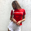 BAD GIRL TOP RED