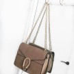 GOLDEN SNAKE BAG - BEIGE