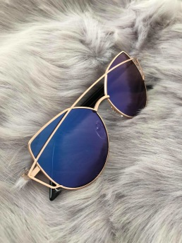 CAT EYE SHADES - BLUE/GOLD