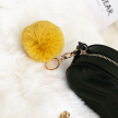FAUX FUR KEYCHAIN GOLD - YELLOW