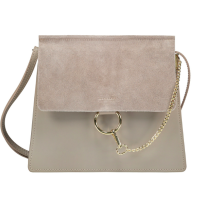 CHAIN BAG LARGE TAUPE