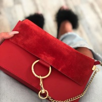 CHAIN BAG SMALL RED