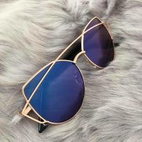 CAT EYE SHADES - BLUE/GOLD