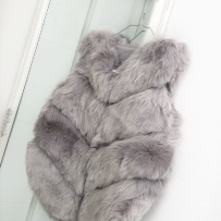 STELLA FAUX FUR VEST GREY