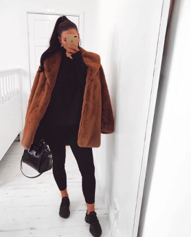TEDDY FAUX FUR COAT LONG