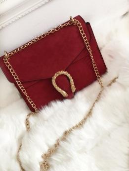 GOLDEN SNAKE BAG - RED