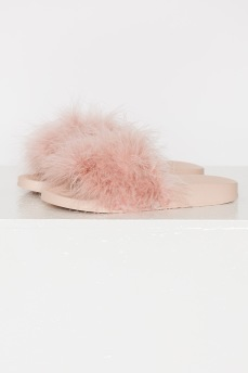 FEATHER SANDALS PINK