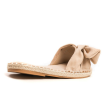 SUEDE BOW SANDALS - BEIGE