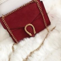 GOLDEN SNAKE BAG - RED