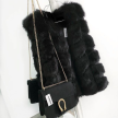 ANGELA FAUX FUR VEST BLACK