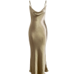 GOLDEN SATIN DRESS
