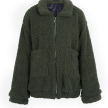FURRY TEDDY COAT LONG GREEN
