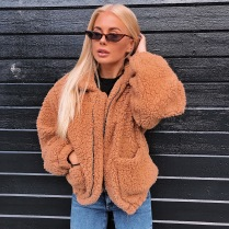 FURRY TEDDY COAT SHORT - BEIGE