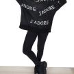 J'ADORE PRINT SWEATER BLACK