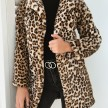 LEO FAUX FUR COAT LONG HOODED