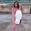 KNITTED SET HOODED PINK