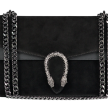 SUEDE SNAKE BAG LARGE BLACK