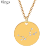 ZODIAC NECKLACE GOLD - VIRGO
