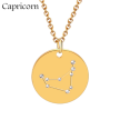 ZODIAC NECKLACE GOLD - CAPRICORN