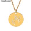 ZODIAC NECKLACE GOLD - SAGITTARIUS