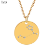 ZODIAC NECKLACE GOLD - LEO