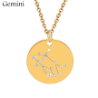 ZODIAC NECKLACE GOLD - GEMINI