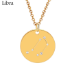 ZODIAC NECKLACE GOLD - LIBRA