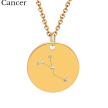 ZODIAC NECKLACE GOLD - CANCER