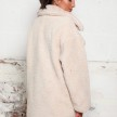 TEDDY COAT LONG CREAM WHITE