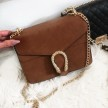GOLDEN SNAKE BAG - BROWN