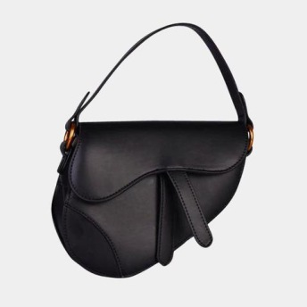 SADDLE FLAP LIMITED SMALL BAG BLACK