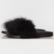 FEATHER SANDALS BLACK